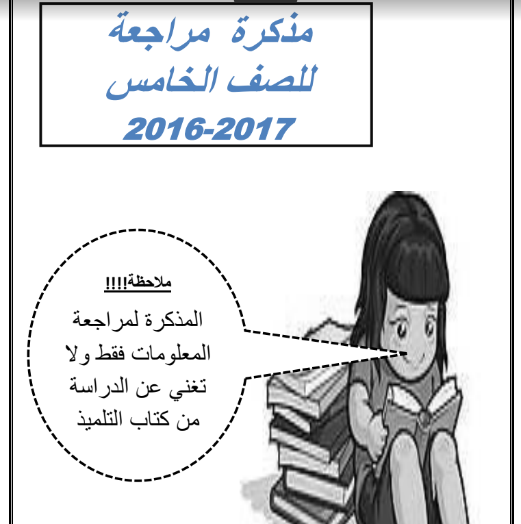 مذكرة علوم للصف الخامس الاستاذة انوار الفهد