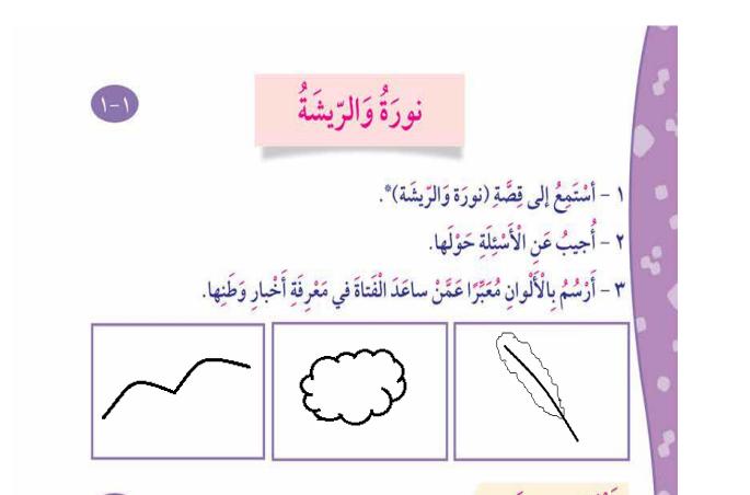 حل كتاب لغتي العربية للصف الثاني الفصل الثاني الوحدة الأولى و الثانية