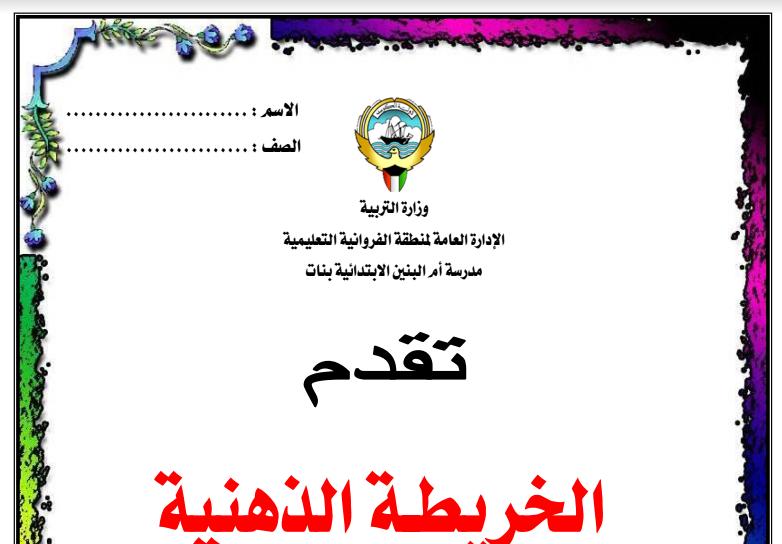 الخريطة الذهبية اسلامية للصف الخامس الفصل الثاني اعداد مريم الرشيدي 2015-2016