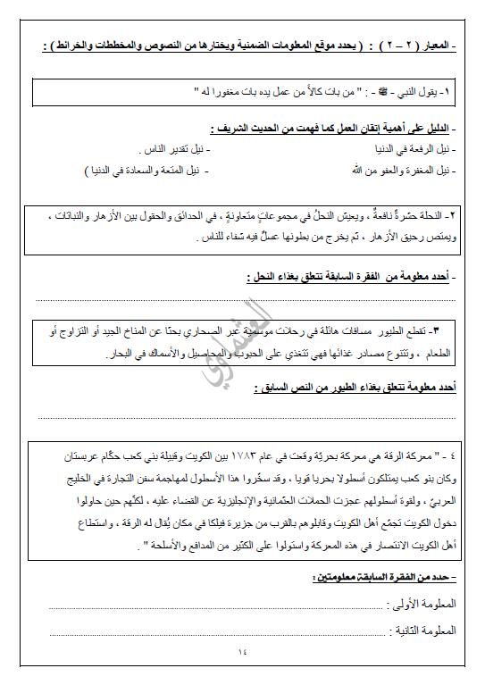 مذكرات العشماوي لغة عربية الجزء 1 الصف السابع 2017-2018