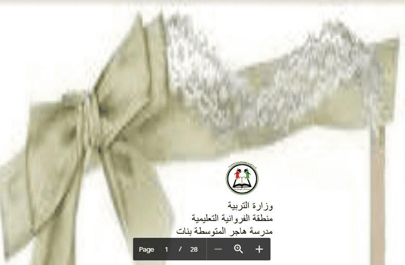 ورشة عمل كفايات عربية الصف السابع مدرسة هاجر 2017-2018