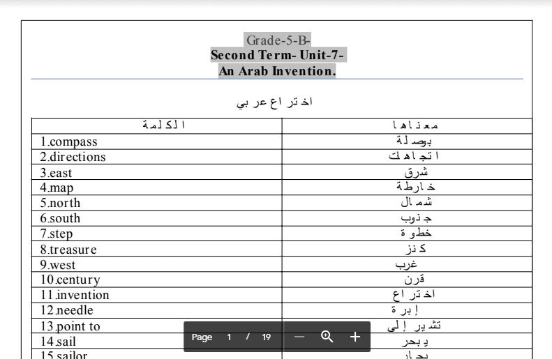 مذكرة انجليزية الصف الخامس اعداد احمد بكري