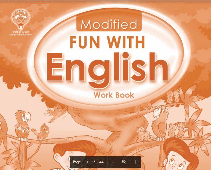 كتاب الانجليزية الوورك بوك الصف الثالث الجزء الثاني