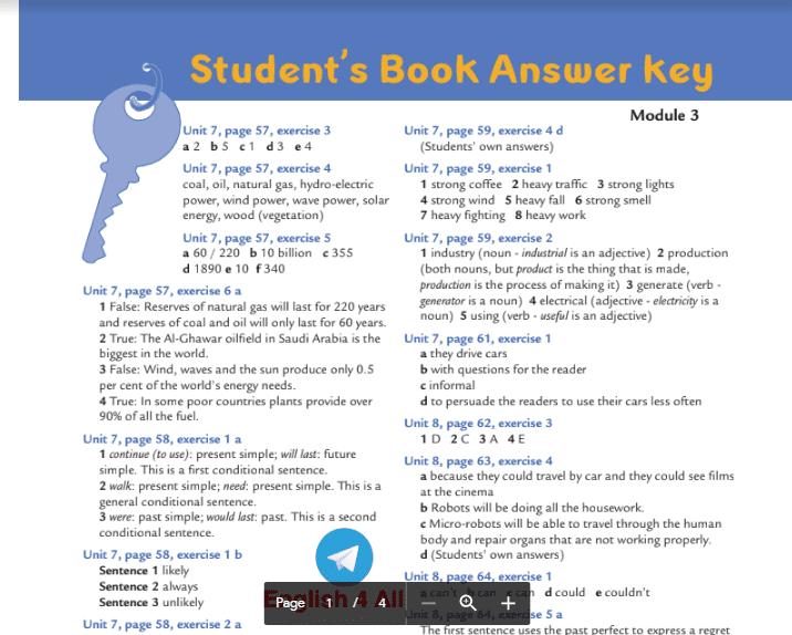 اجابات كتاب الطالب انجليزية الصف العاشر الفصل الثاني