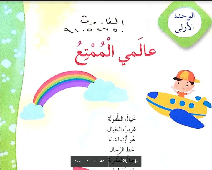 حل الوحدة الاولى كاملة لغة عربية الصف الرابع الفصل الثاني اعداد الفاروق 2019