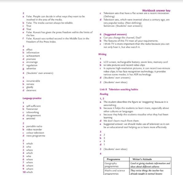 حل كتاب التدريبات وورك بوك لغة إنجليزية الصف الحادي عشر الفصل الثاني