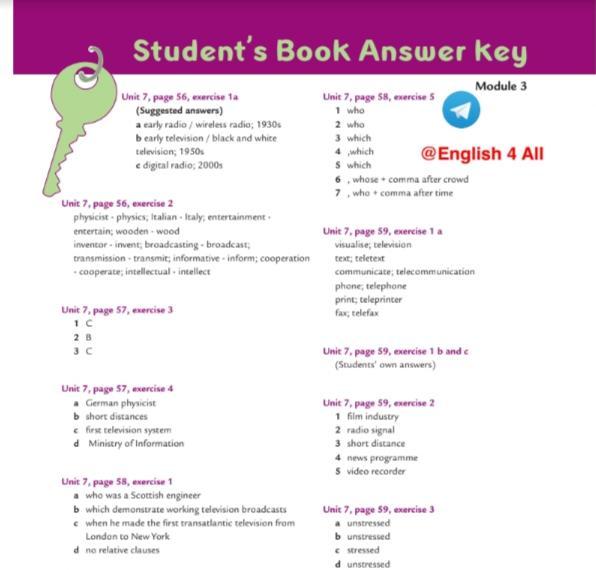 حل كتاب الطالب ستيودنت بوك لغة إنجليزية الصف الحادي عشر الفصل الثاني