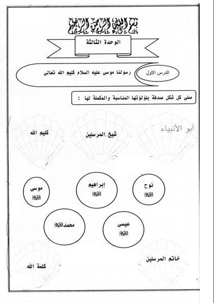 مذكرة اسلامية الوحدة الثالثة الصف الثالث الفصل الثاني