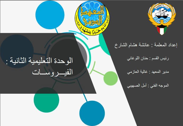 أنفوجرافيك علوم فصل الفيروسات للصف السادس الفصل الثاني إعداد أ.عائشة هشام الشارخ 2017-2018