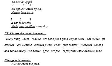 أسئلة قواعد لغة إنجليزية للصف السادس الفصل الثاني
