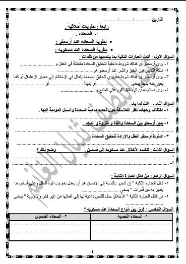 أسئلة مادة علم النفس الصف الحادي عشر أدبي الفصل الثاني ثانوية عبد اللطيف ثنيان الغانم