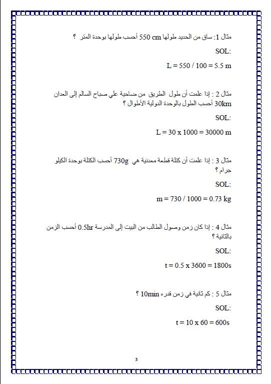 معادلات فيزياء الصف العاشر الفصل الاول اعداد سلمان الرشيدي