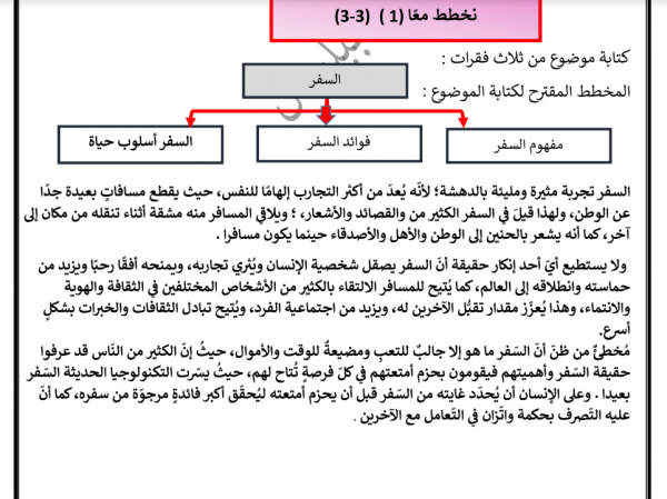حل كتاب العربي للصف السابع