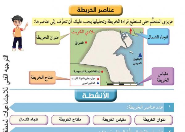 حلول كتاب بلادي الكويت للصف  الرابع