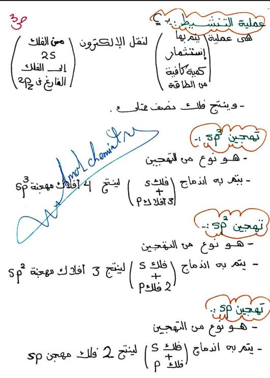تعاريف الكيمياء الصف الحادي عشر الفصل الاول