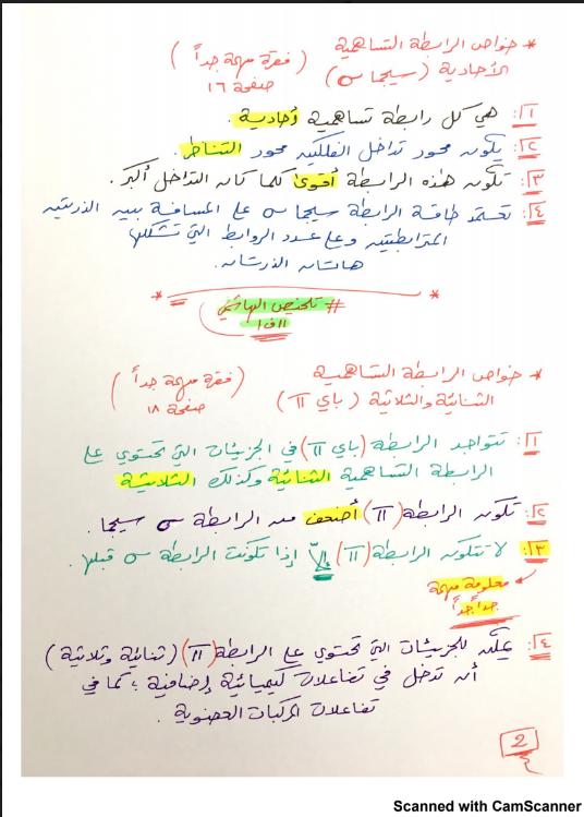 شرح الكيمياء الصف الحادي عشر الفصل الاول