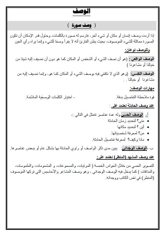 نماذج مهارات التعبير لغة عربية الصف الثاني عشر الفصل الأول إعداد سعد المكاوي