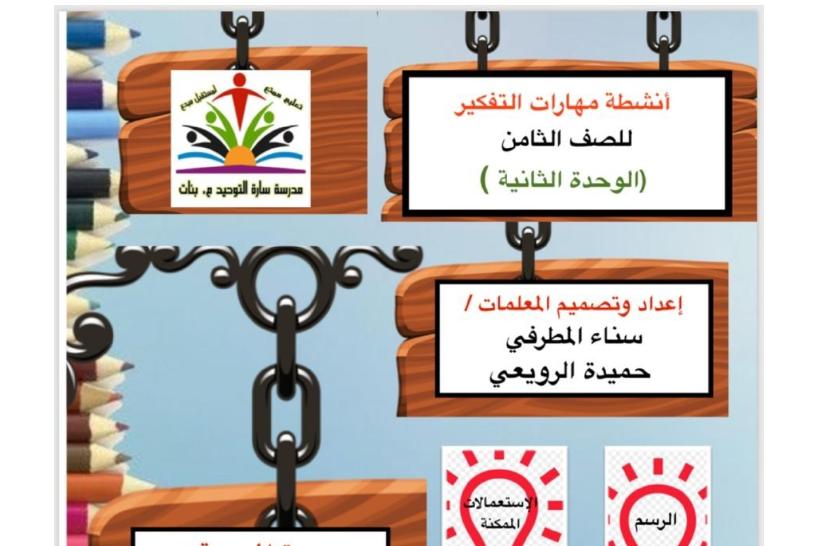 مهارات التفكير إسلامية الوحدة الثانية الصف الثامن الفصل الأول