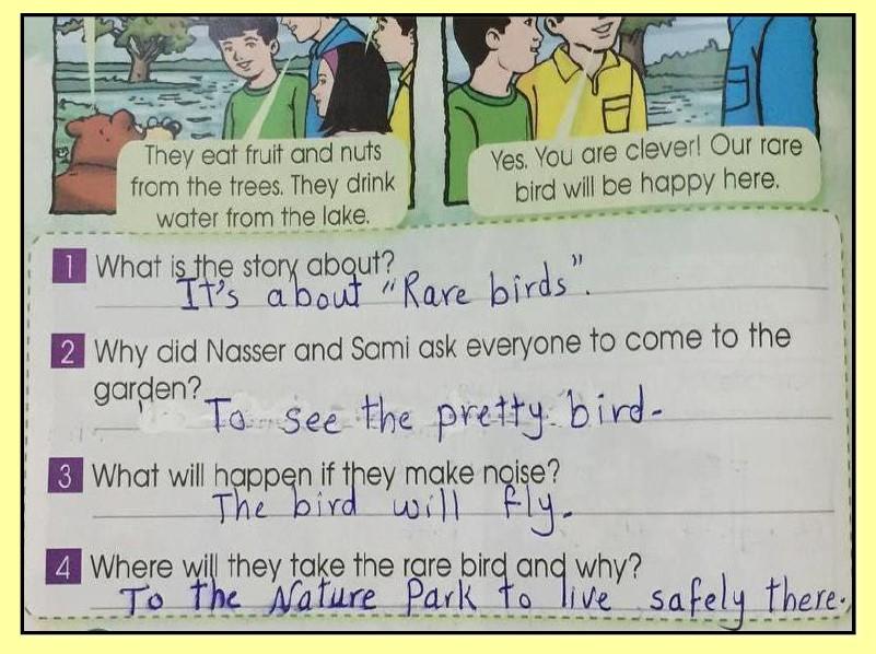 حل كتاب الطالب انجليزي الوحدة السادسة الصف الرابع الفصل الثاني