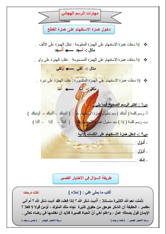 المهارات الهجائية لغة عربية الصف الثامن الفصل الثاني إعداد سلامة صباح